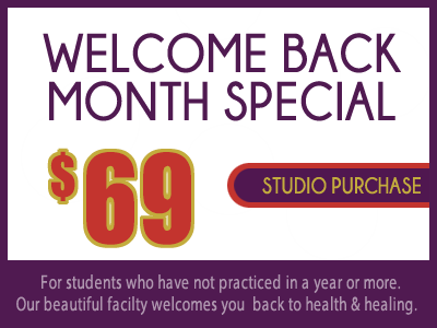 Welcome Back Special $69