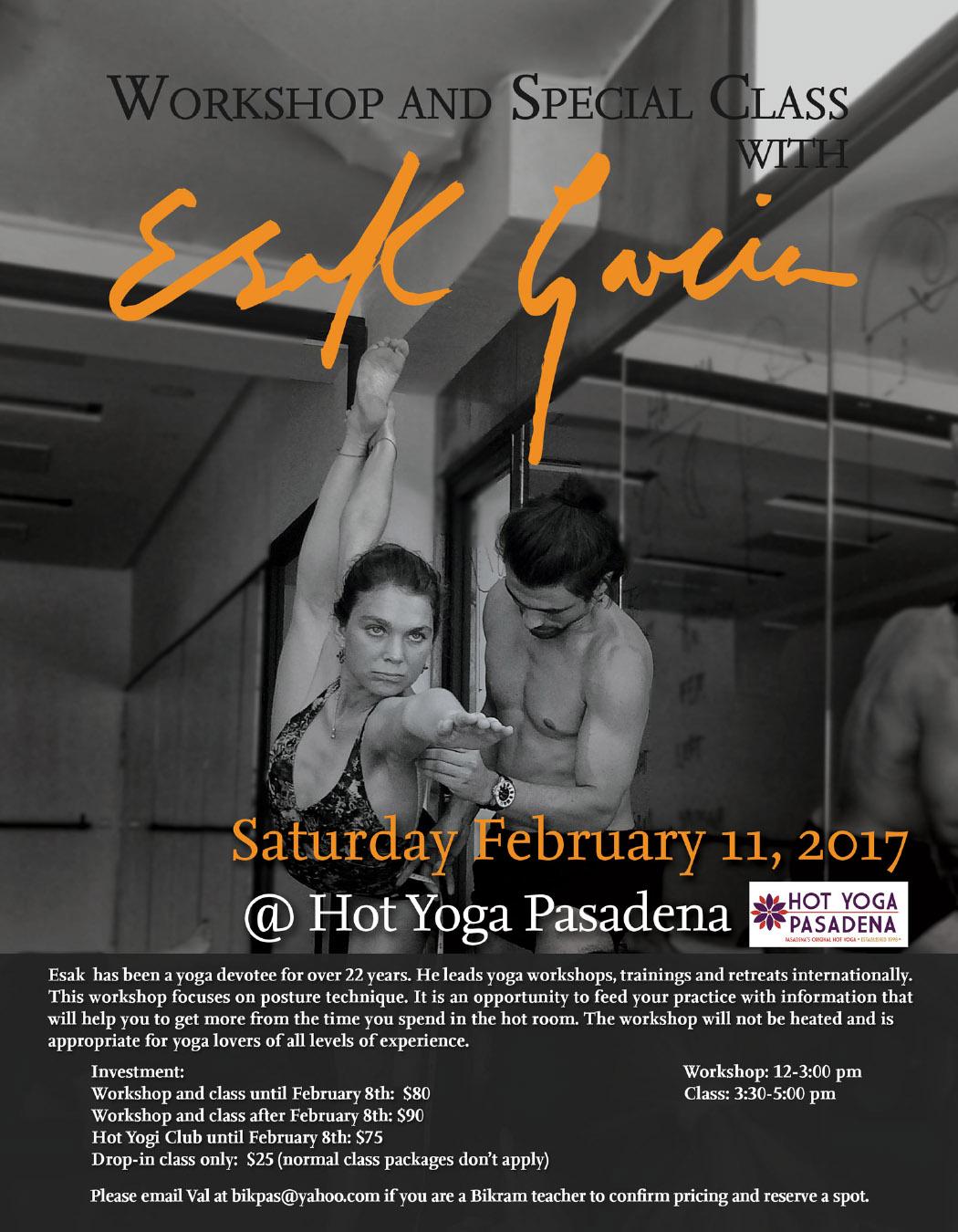 Pasadena Workshop Hot Yoga